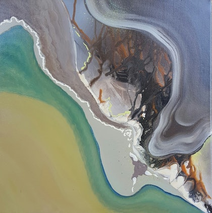 (CreativeWork) Natural Terrain-One by Tracey Haustead. arcylic-painting. Shop online at Bluethumb.
