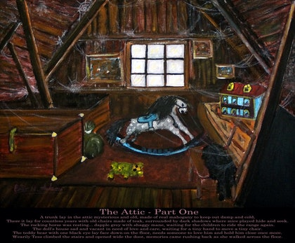 (CreativeWork) The Attic - Part One by Peter Adams. print. Shop online at Bluethumb.
