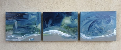 (CreativeWork) Intensity 1,2 &3 by Tracey Haustead. arcylic-painting. Shop online at Bluethumb.