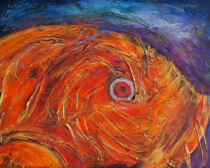 (CreativeWork) Big Fish by Gaye Tait. arcylic-painting. Shop online at Bluethumb.