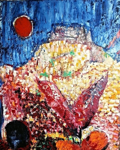 (CreativeWork) Carrion by Anthony Marshall. oil-painting. Shop online at Bluethumb.