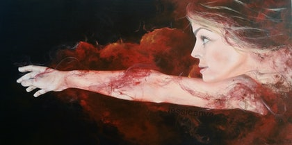 (CreativeWork) Reach by Jessica Nye. arcylic-painting. Shop online at Bluethumb.
