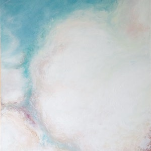 (CreativeWork) Cloud Collection #1 - The Urge by Jessica Nye. arcylic-painting. Shop online at Bluethumb.