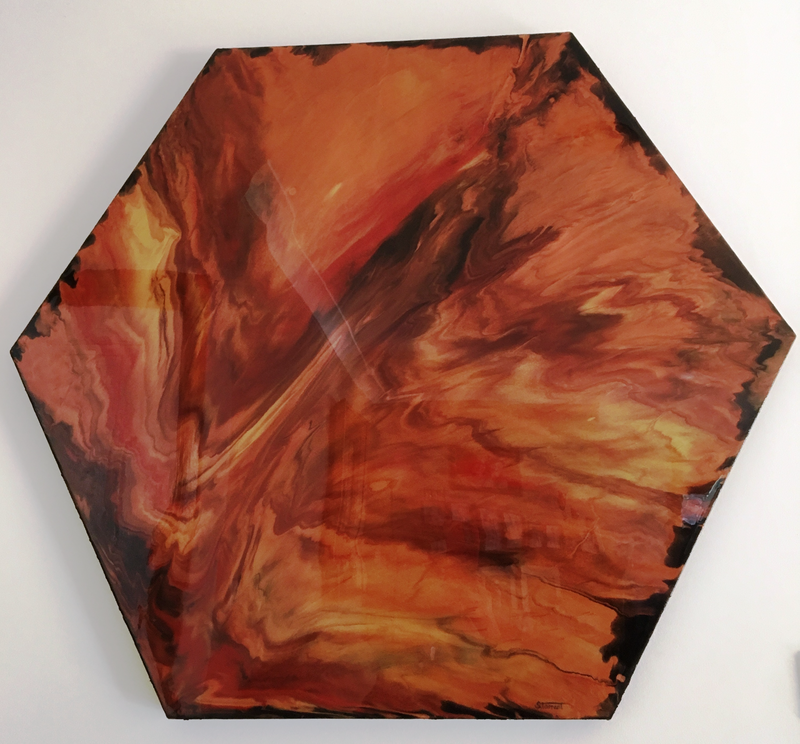 (CreativeWork) Eruption by Sharon Tarrant. resin. Shop online at Bluethumb.