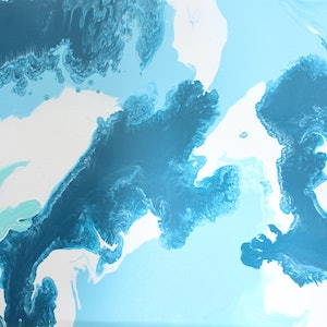 (CreativeWork) Blue mint dreams by Emma Thomas. arcylic-painting. Shop online at Bluethumb.