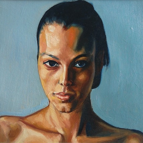 (CreativeWork) girl stares study 29 by gord anderson. Oil Paint. Shop online at Bluethumb.
