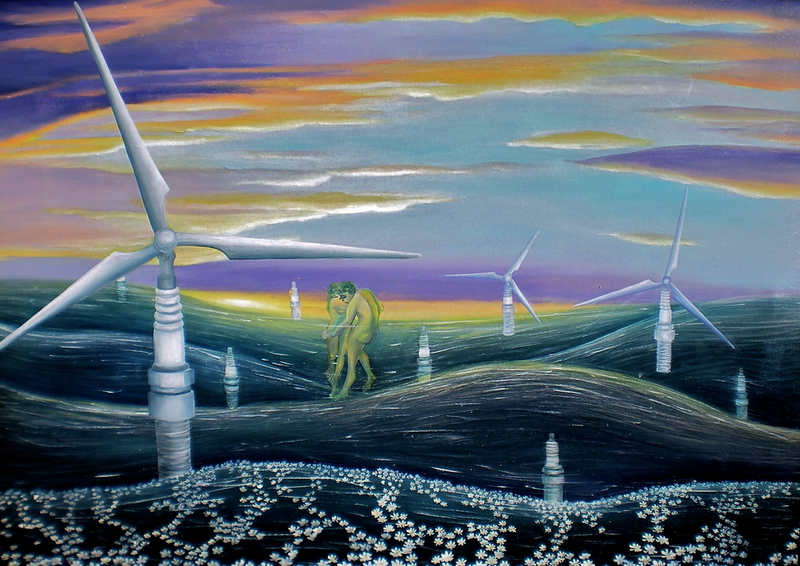 (CreativeWork) Sustaining the Eternity by Stephanie Jakovac. oil-painting. Shop online at Bluethumb.