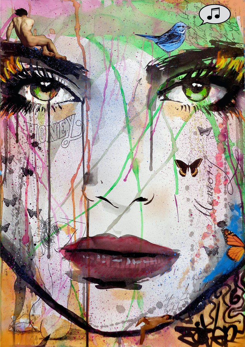 (CreativeWork) HONEY by loui jover. mixed-media. Shop online at Bluethumb.