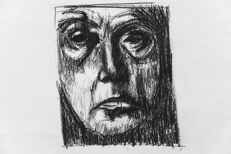 (CreativeWork) Drawing - face  by Ishbel Morag Miller. drawing. Shop online at Bluethumb.