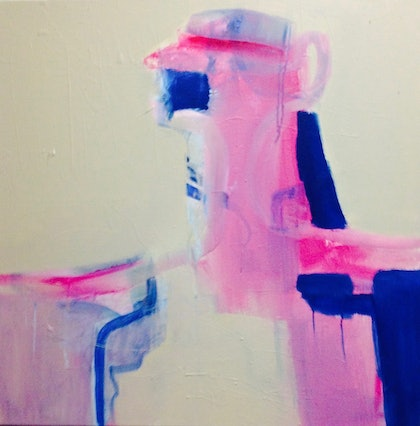 (CreativeWork) HOSTAGE  by Samantha McKay. arcylic-painting. Shop online at Bluethumb.
