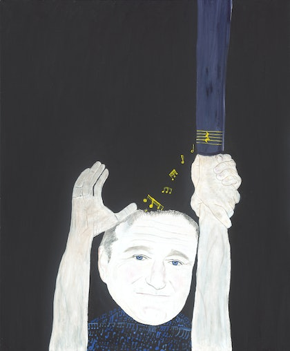 (CreativeWork) Robin Williams by Tony King. oil-painting. Shop online at Bluethumb.