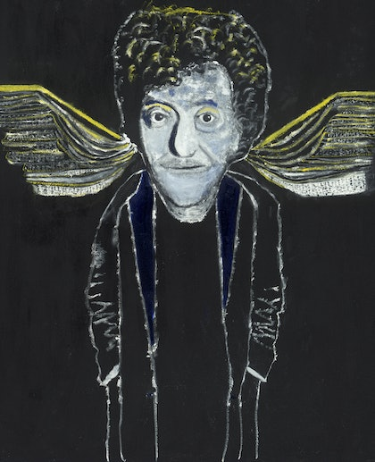 (CreativeWork) Kurt Vonnegut Jr by Tony King. oil-painting. Shop online at Bluethumb.