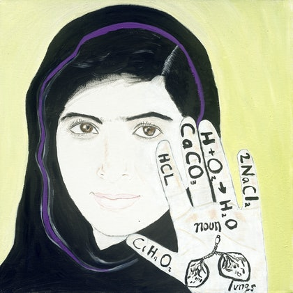 (CreativeWork) Malala by Tony King. oil-painting. Shop online at Bluethumb.