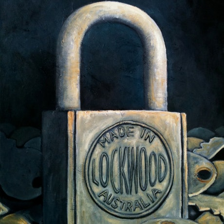 (CreativeWork) The Lock by Tank .. Oil Paint. Shop online at Bluethumb.