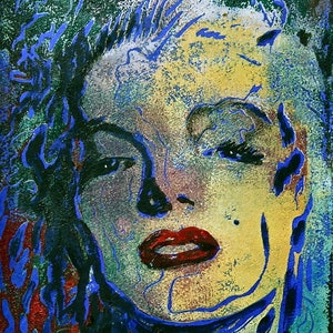 (CreativeWork) Sultry Marilyn 2 by Stephanie Jakovac. print. Shop online at Bluethumb.