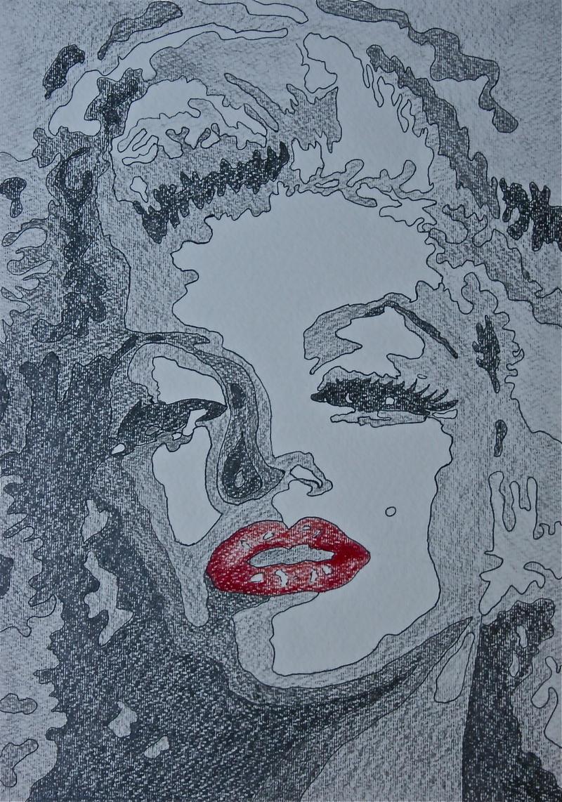 (CreativeWork) Sultry Marilyn 1  by Stephanie Jakovac. drawing. Shop online at Bluethumb.
