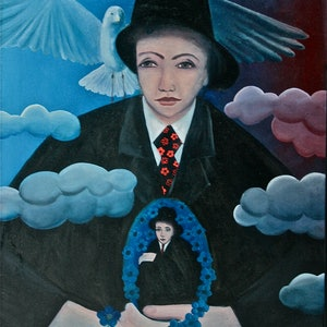 (CreativeWork) Sustaining one's own Morale by Stephanie Jakovac. oil-painting. Shop online at Bluethumb.