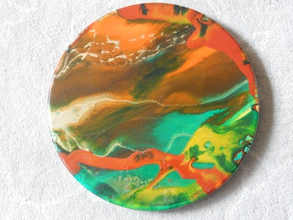 (CreativeWork) Outback Earth by Shirly Larsen. resin. Shop online at Bluethumb.