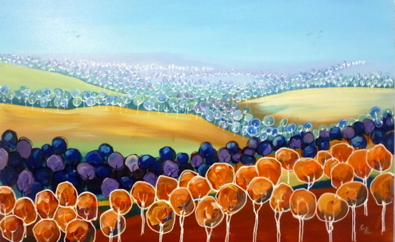(CreativeWork) Blue Gums by Ron Brown. arcylic-painting. Shop online at Bluethumb.