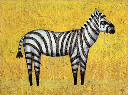 (CreativeWork) Zebra by Kelly-Jade King. arcylic-painting. Shop online at Bluethumb.
