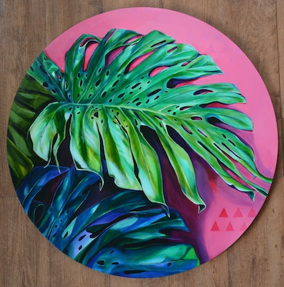 (CreativeWork) Monstera Magnetism by Tamara Armstrong. #<Filter:0x00007fa5652b41b8>. Shop online at Bluethumb.