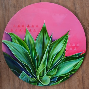 (CreativeWork) Hot Agave by Tamara Armstrong. arcylic-painting. Shop online at Bluethumb.