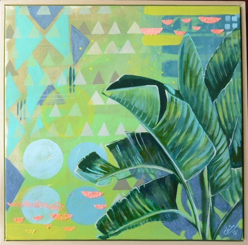 (CreativeWork) Plants in paradise by Tamara Armstrong. mixed-media. Shop online at Bluethumb.