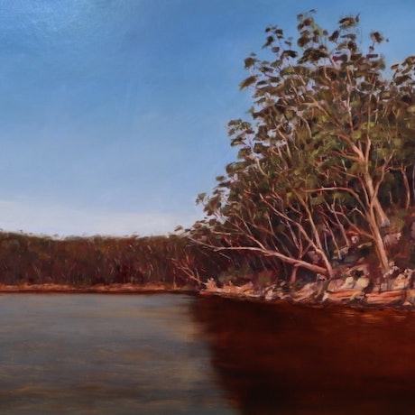 (CreativeWork) Evening Light #2 by Kate Gradwell. Oil Paint. Shop online at Bluethumb.