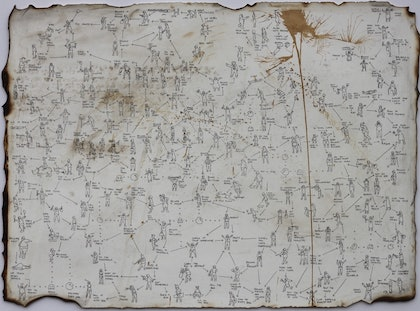 (CreativeWork) A treasure map to happiness by Eddie Botha. drawing. Shop online at Bluethumb.
