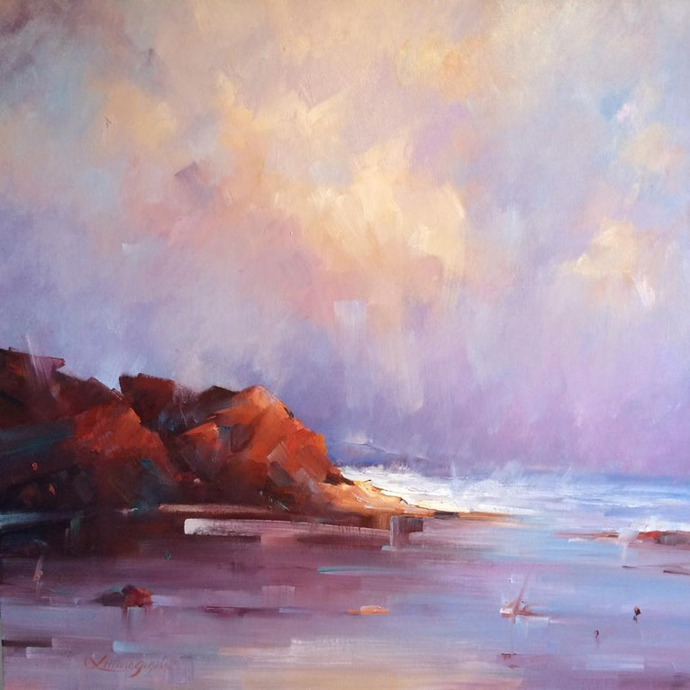 (CreativeWork) Cape Leveque Coastline by Liliana Gigovic. Oil Paint. Shop online at Bluethumb.