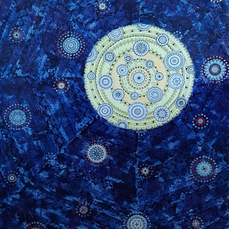(CreativeWork) Another Starry Night by Jan Naylor. Mixed Media. Shop online at Bluethumb.