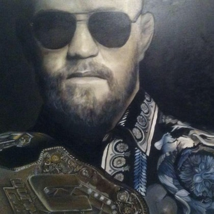 (CreativeWork) Conor McGregor  by Jose Marcote. oil-painting. Shop online at Bluethumb.
