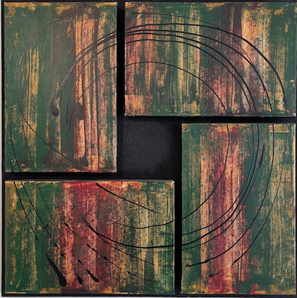 (CreativeWork) A Harsh Country by Chris Herrmann. arcylic-painting. Shop online at Bluethumb.