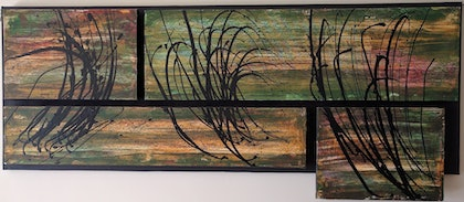 (CreativeWork) Windswept by Chris Herrmann. arcylic-painting. Shop online at Bluethumb.