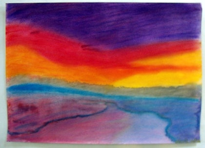 (CreativeWork) Sunset of Dreams by Nicole whittaker. mixed-media. Shop online at Bluethumb.