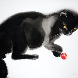(CreativeWork) Red Ball by Soo Beng Lim. drawing. Shop online at Bluethumb.