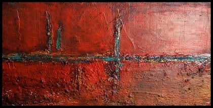 (CreativeWork) Hidden Treasure by Claire Clifton. arcylic-painting. Shop online at Bluethumb.