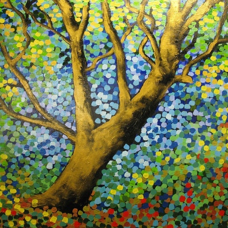 (CreativeWork) Shimmer in the Sun by Sally Ford. Acrylic Paint. Shop online at Bluethumb.