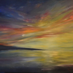 (CreativeWork) Crescendo  by Tony Wu. oil-painting. Shop online at Bluethumb.