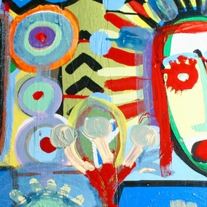 (CreativeWork) HAPPINESS AND FUN 4 by DEREK ERSKINE. oil-painting. Shop online at Bluethumb.