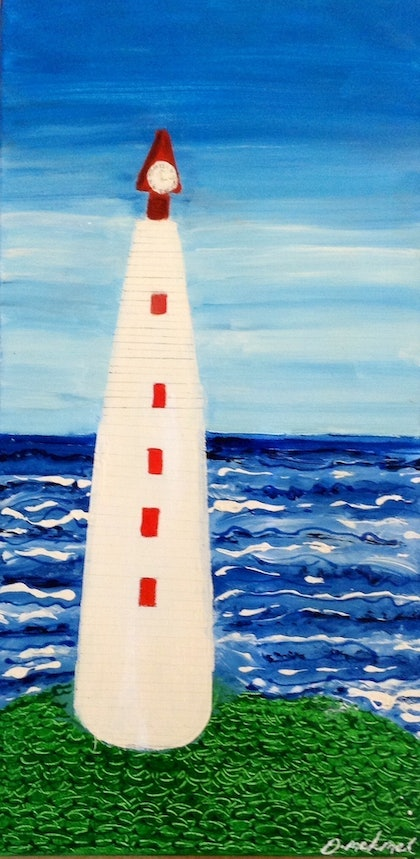 (CreativeWork) THE LIGHT HOUSE  by Deryal mehmet. mixed-media. Shop online at Bluethumb.