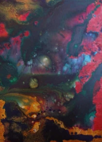 (CreativeWork) That Good Night by Nicole whittaker. arcylic-painting. Shop online at Bluethumb.