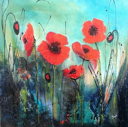 (CreativeWork) Red Rising by Lindy Boyle. arcylic-painting. Shop online at Bluethumb.