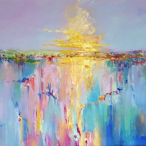 (CreativeWork) Light Path by Helen Miles. arcylic-painting. Shop online at Bluethumb.