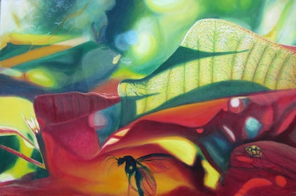 (CreativeWork) Menagerie by leonard aitken. oil-painting. Shop online at Bluethumb.