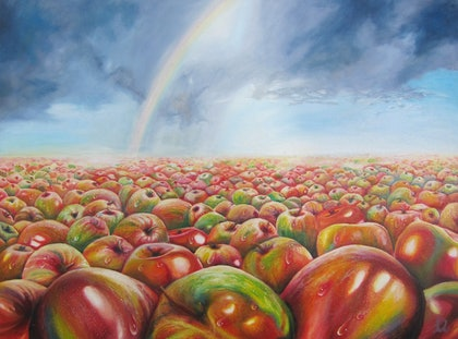 (CreativeWork) The Pride of Still Life by leonard aitken. oil-painting. Shop online at Bluethumb.