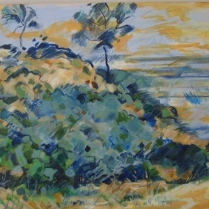 "(CreativeWork) ""On the Beach"" by Noeline Machan. acrylic-painting. Shop online at Bluethumb."