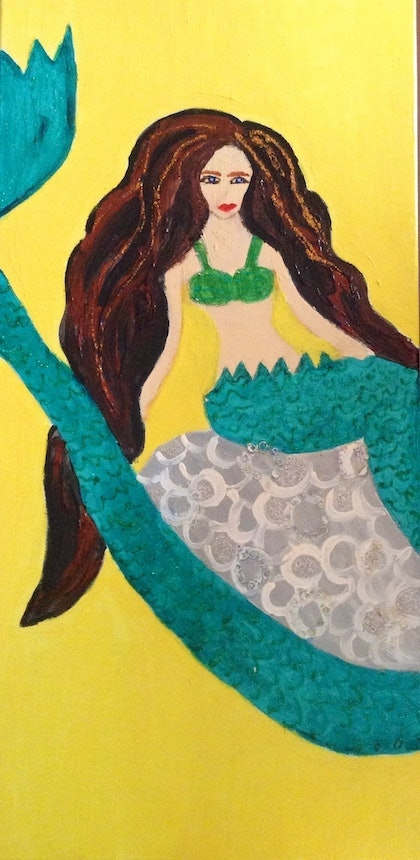 (CreativeWork) Mermaid of the deep by Deryal mehmet. mixed-media. Shop online at Bluethumb.