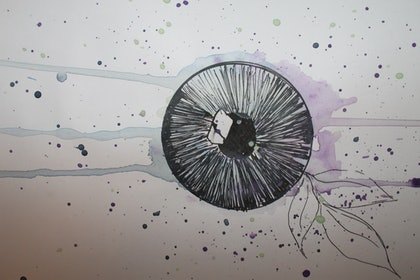 (CreativeWork) The Eye Of The World  by Ilianna Ginnis. mixed-media. Shop online at Bluethumb.