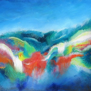 (CreativeWork) Wilderness by Jane Welsh. arcylic-painting. Shop online at Bluethumb.